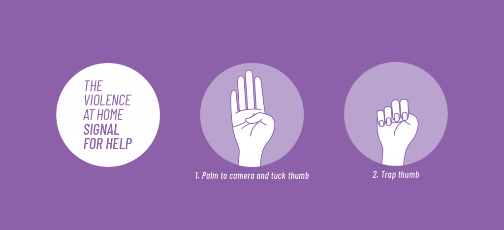 To inform readers about a hand gesture that can be used during a video call to indicate that you are suffering from domestic violence.